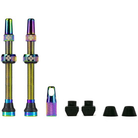 Muc-Off MTB & Road Tubeless Valve Kit 80mm, Iridescent